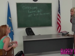 Redhead Alex Tanner tongues by stepmom at school