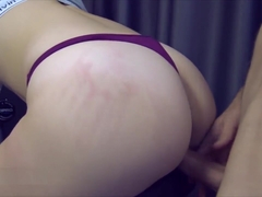 Teen Fuck on Exercise Bike and Cum