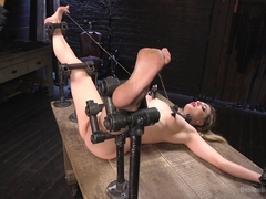 Dahlia Sky & The Pope in Sexy Blonde Whore Is Brutalized In Grueling Bondage - DeviceBondage
