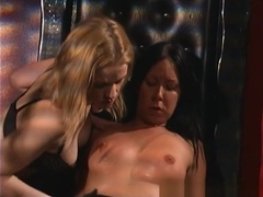 Fabulous pornstars Anna Mills and Julie Night in horny lesbian, spanking sex movie