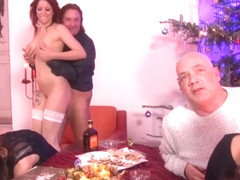 Valeria Jones & Cassie Young & Samy Fox & Big George in Traditional German househodld Xmas - MMVFi.