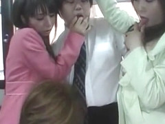 Amazing Japanese chick Yuka Osawa, Risa Arisawa, Haru Sakuraba in Horny Group Sex, Public JAV movie