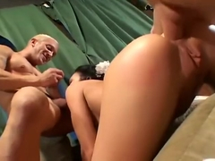 Fresh bride gets fucked by two... In the ass