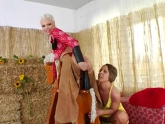 Brutal analhole threesome with cowboy