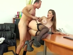 Dani Daniels Fucked and Creampied by Old Man