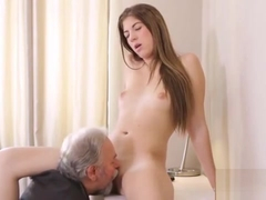Pretty Bookworm Gets Teased And Drilled By Her Senior Teache