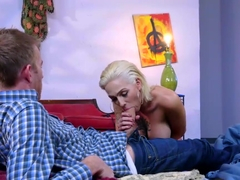 Busty Harlow Harrison loves to ride his massive cock roughly