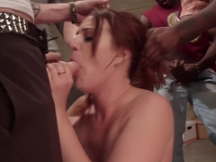 Route 69: Truckers Welcome. Porn store slut double penetrated!