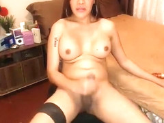 Exotic Homemade Shemale clip with Big Tits, Masturbation scenes