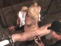 Ally Ann in Ally Ann 19 year old blond hottie in pigtails - DeviceBondage