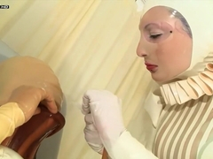 latex suit latex glove