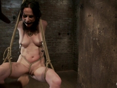 Brutal Elbow And Crotch Rope Suspension.Caned, Severely Flogged And Made To Cum, Left To Suffer. -.