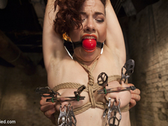 Ingrid Mouth in Double Penetration Predicament - HogTied