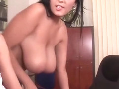 Sharing A Giant Dildo With Jasmine Black