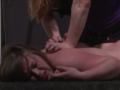 Lesbian Beating And Kicking Of Humiliated Cunt