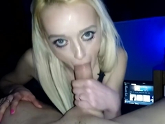 Candee Lace - Stunning babe with beautiful eyes POV blowjob HD