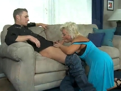 Busty mature woman Claudia Marie gets her old pussy fucked by Michael Vegas