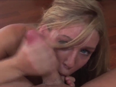 Hot Allison Pierce is showing how a true blowjob should be done