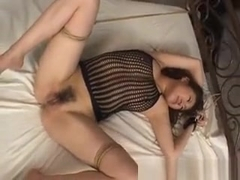 Megu Hayasaka Busty In Fishnet Lingerie Gets Sex Toy In Assh