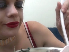 Nadia White in Sexy Nadia Eats Cereal Filled With Sexy Soldiers - NadiaWhite