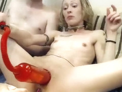 Freaky Blonde Amateur Cadence Lux Loves Her Toys