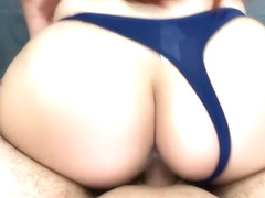 Amateur Quickie Creampie to horny petite latina - Big Ass Therapy