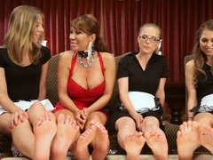 Crazy lesbian, fetish adult scene with amazing pornstars Riley Reid, Penny Pax and Ava Devine from Footworship