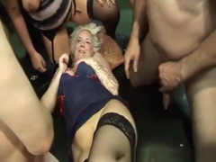 British blondes gangbanged in a UK sex club