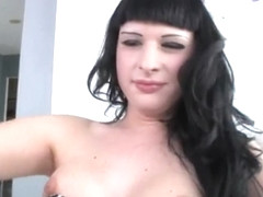 Two shemales Vaniity and Bailey Jay anal and cumshot action