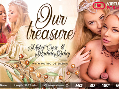 Misha Cross  Potro de Bilbao  Rachele Richey in Our treasure - VirtualRealPorn