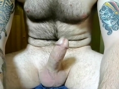 Nice homosexual is frigging in his room and filming himself on webcam