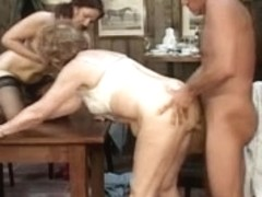 Lustful grannies fuck in every possible way