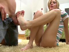 Hot feet job of the sexy Kacey Jones
