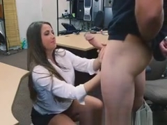 Crazy Brunette Shows Up And Gives Handjob At Pawn Shop