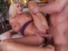 Big Tits Pornstar Foot And Cumshot