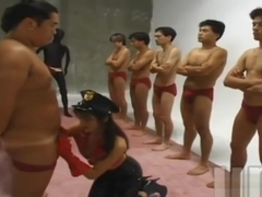 Traditional Japanese police training Bukkake