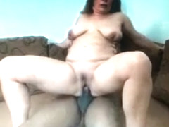 Homemade white chubby wife mature Steffi's first BBC interracial