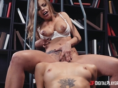 Britney Amber & Evelin Stone in Licking the Librarian - DigitalPlayground