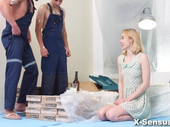 X-Sensual - Via Lasciva - DP helps teeny get over her ex
