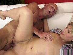 Teen Cummed By Old Dude