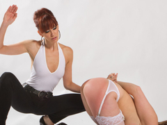 Crazy bdsm, lesbian porn movie with best pornstars Maitresse Madeline Marlowe and Courtney Cummz from Whippedass