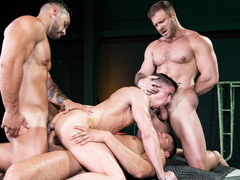 Austin Wolf & Skyy Knox & Arad Winwin & Tyler Roberts in The Fixer, Scene #04 - HotHouse