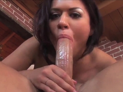 Busty big ass Eva Angelina plays with muscled dude