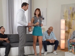 Fabulous pornstar Tina Hot in hottest gangbang, dp adult video