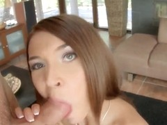Alexis Brill gives deep throat to boyfriend