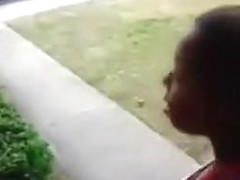 Trashy black women fighting at the apartment complex