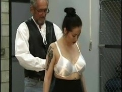 Asian submissive slave dominated by older man