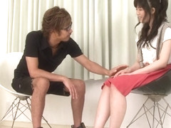Sena Sakura Fingered By A Colleague In Threesome - JapanHDV