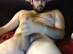 Attractive boyfriend is masturbating within doors and shooting himself on web camera