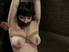 Actual Member Of The Site Applies To Model  Is Accepted.This Big Titted Milf Is Bound  Abused. - H.